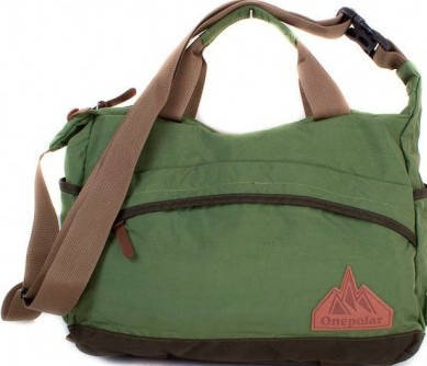 Спортивная мужская сумка через плечо ONEPOLAR (ВАНПОЛАР) W5266-green зеленая