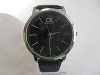 Мужские часы Calvin Klein  черные с серебром (Арт. 011)