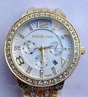 Женские часы Mikhael Kors Gold Black копия (Арт. 1411)