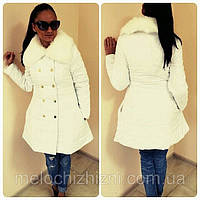 Зимняя женская куртка   (Арт. 516)46р белая