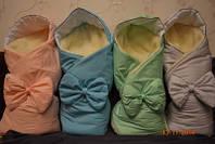 Конверт-одеяло на овчине на выписку, в коляску