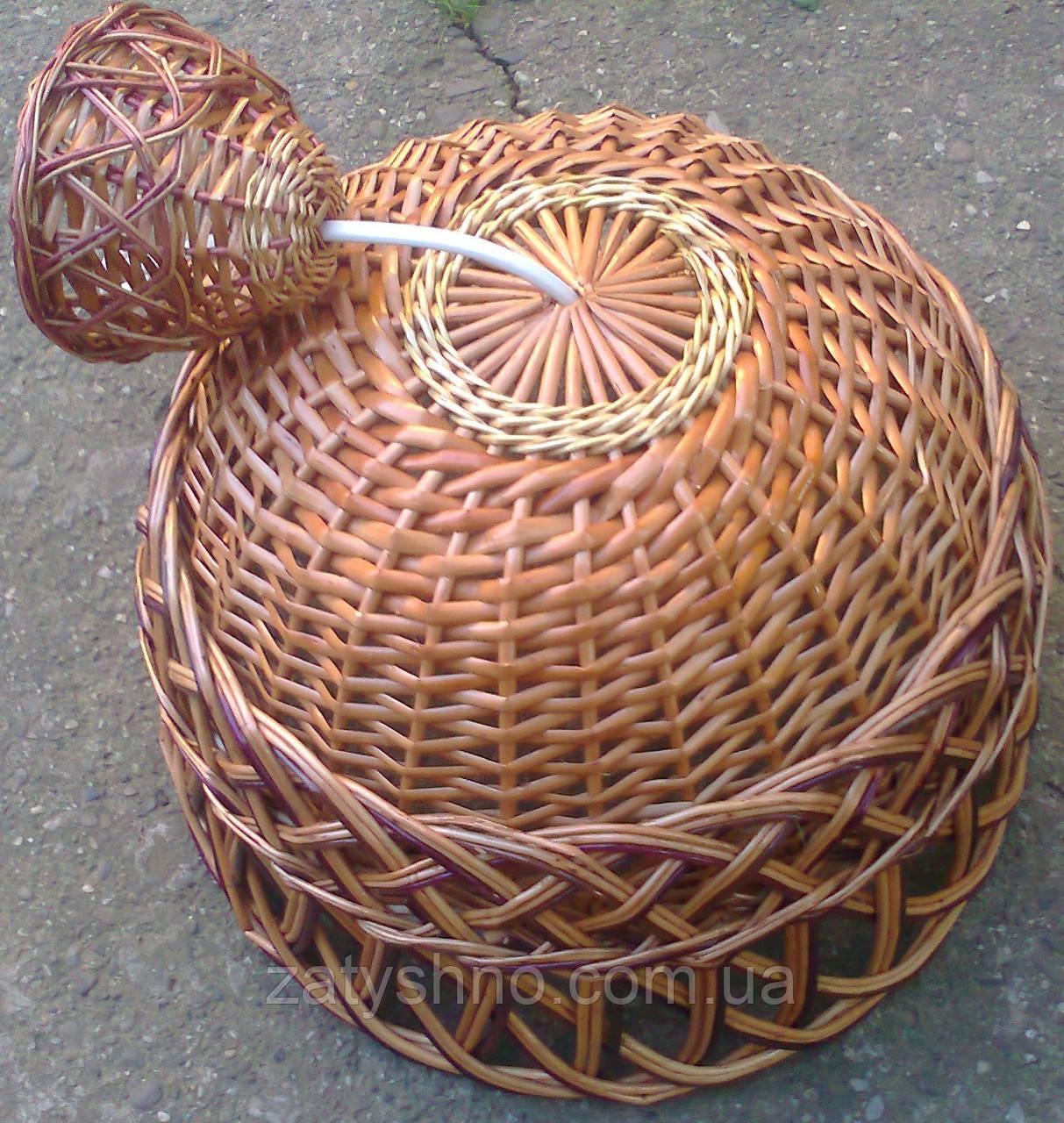 Плетение люстры из лозы своими руками