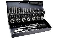 Плашки и метчики, M3 - M12, набор 32 шт.,  TOPEX 14A426