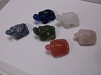 Черепаха привлекает удачу ( агат, эпидот,  нефрит) от студии    LadyStyle.Biz