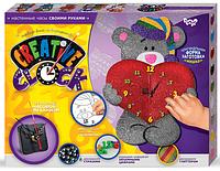 """Подарочный набор. Креативные часы. """"Creative clock"""" """"Мишка с сердцем"""""""
