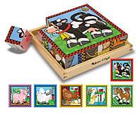 Игрушка Деревянные Кубики Ферма ТМ Melissa&Doug