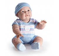 Berenguer, кукла пупс Лукас мальчик в синем комбинезоне, 46 см