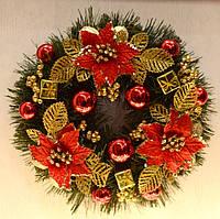 Венок новогодний украшенный 0422 RG