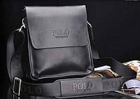 Стильная мужская сумка POLO. Черная.