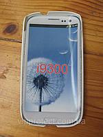 Samsung i9300 Galaxy S3, білий пластиковий матовий чохол накладка на телефон. UA.
