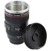 Термокружка в виде объектива фотокамеры canon,кружка термо чашка объектив