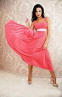 """Длинное вечернее платье масло в пол """"Алекса"""" с камнями на поясе и болеро (3 цвета)"""