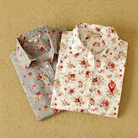 Стильная рубашка в цветочек