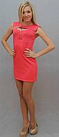 Платье с молнией розовый, фото 1