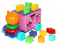 Розвиваюча машинка-сортер Тигреня 21 елемент