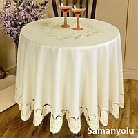 Скатерть на круглый стол 160хQ KAYAOGLU Samanyolu белая
