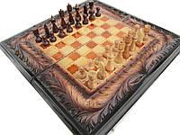 Сувенирные,резные шахматы-нарды на подарок