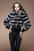 Роскошный полушубок-куртка  авто леди шиншилла рекс-кролик