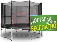 Механический батут МВМ диаметр 305 см с защитной сеткой. Kidigo
