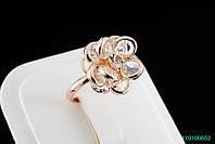 """Кольцо """"Роза"""" с кристаллами Stellux™ (Swarovski), покрытие золото"""