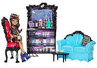 Кукла Monster High Clawdeen Wolf Coffin Bean Клодин Вульф Коффин Бин с мебелью