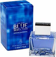 Мужские ароматы Antonio Banderas Seduction Blue for men (аромат фруктовый, древесный)