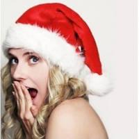 Красная Шапка Деда Мороза с Мехом и Бархатом!