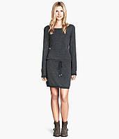 Серое платье с пояском H&M