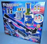 Микроскоп CQ-031 с линзами и телескопом. Оптический набор.