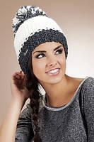 Женская шапка с крупной вязкой Kinga №1311