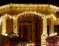 Гирлянда LED бахрома 120 светодиодов (мульти, белая, синяя, желтая, розовая) )