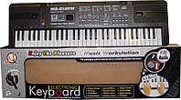 Синтезатор для детей от 3-х лет mq 012 fm, 16 тонов, 10 ритмов, 6 мелодий, запись, микрофон, сетевой адаптер