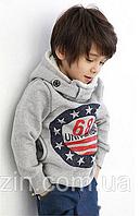 Детская теплая трикотажная кофта на мальчика