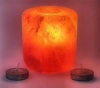 Подсвечник соляной шлифованный цилиндрический (9х9см.)