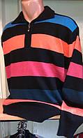 Кофта мужская воротник-поло с длинным рукавомLOUIS PRINCE