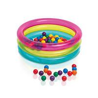 Бассейн  детский, 3 кольца, с шариками 50шт (Арт. 48674)