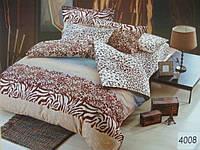 Сатиновое постельное белье евро ELWAY Леопардовая абстракция