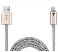 Кабель в оплетке Yoobao Reversible Lightningl USB cable YB-408, gold