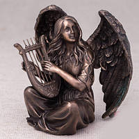 "Бронзовая статуэтка ""Ангел с арфой """