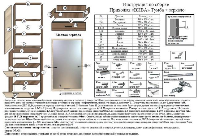 Руководство По Сборке 205-3D - Шкаф-Купе