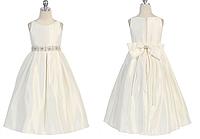 Простое длинное атласное платье 2-13 лет  (2 цвета)