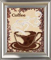 """Схема для вышивки бисером А4 """"Кофе"""""""