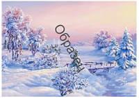 """Схема для вышивки нитками """"Зима"""""""