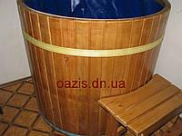 Купель деревянная с мягким ПВХ вкладышем