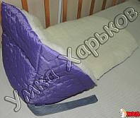 Подстилка-одеяло в санки на овчине