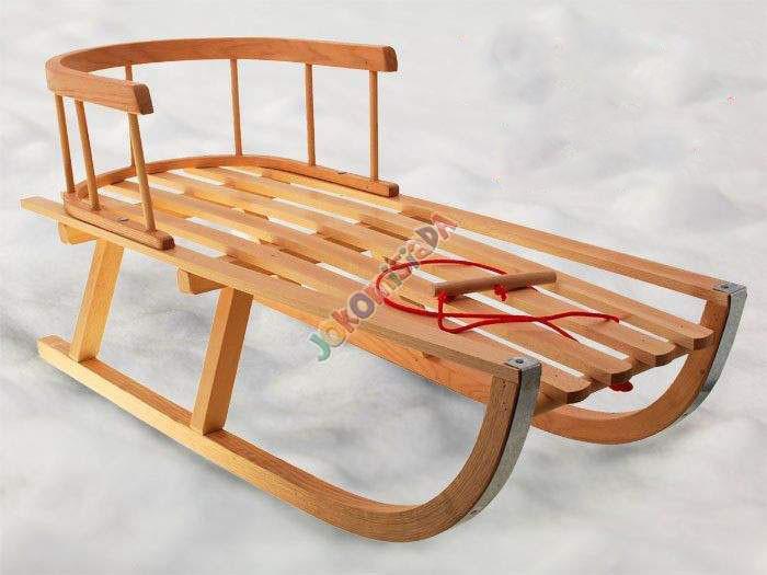 деревянные складные санки со спинкой