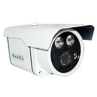 Камера видеонаблюдения наружная 938 в, прочный корпус с козырьком, фиксированный объектив, ик-подсветка, 12в