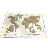 Настенная скретч карта мира в тубусе Scratch map ENG