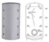 Буферная емкость для отопления Meibes PSX-F 1500