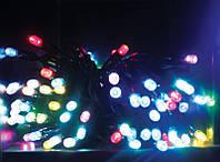 Уличная светодиодная гирлянда на 100 ламп 10 метров (мульти,синяя, желтая)